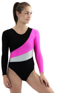 "Kinder Gymnastikanzug ""Diana"" schwarz-pink-silber"