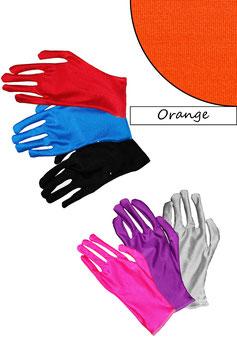 Kurze Handschuhe orange