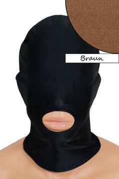 Kopfhaube (Maske) braun, Mund offen