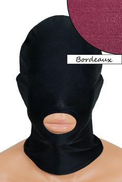 Kopfhaube (Maske) bordeaux, Mund offen