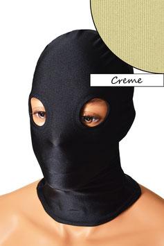 Kopfhaube (Maske) creme, mit Löchern für Augen