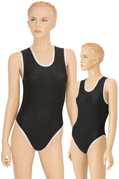 Damen Body Black&White ohne Ärmel schwarz-weiß