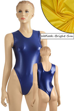 Damen Wetlook Stringbody ohne Ärmel bright-sun