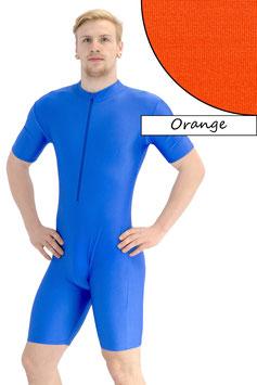 Herren Fitnessanzug FRV kurze Ärmel Radlerbeine orange