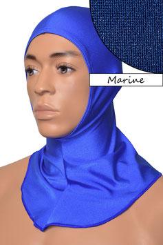 Kopfhaube offen marine