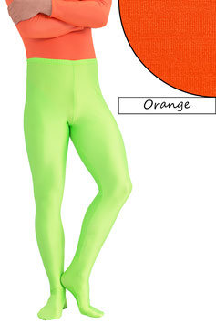 Herren Leggings mit Fuss orange