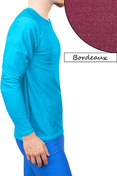 Herren Longsleeve T-Shirt Comfort Fit bordeaux