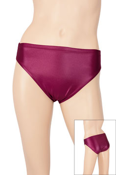 Damen Wetlook Slip bordeaux