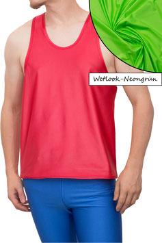 Herren Wetlook Boxerhemd Comfort Fit neongrün