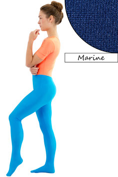 Damen Leggings mit Fuß marine