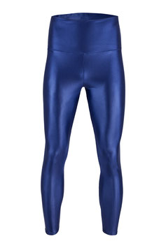 Herren Wetlook High-Waist Leggings marine