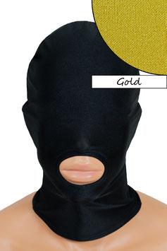 Kopfhaube (Maske) gold, Mund offen