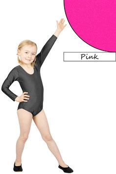 Kinder Gymnastikanzug lange Ärmel pink