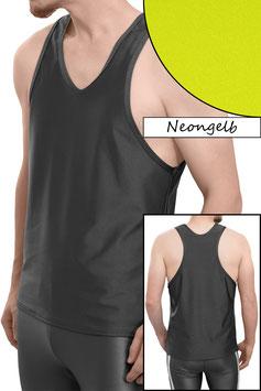 Herren Boxerhemd Comfort Fit neongelb
