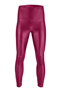 Herren Wetlook High-Waist Leggings bordeaux