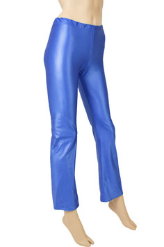 Damen Wetlook Jazzpant royalblau