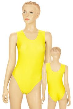 Damen Body ohne Ärmel gelb