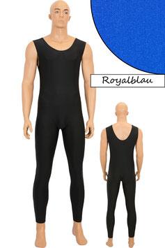 Herren Ganzanzug ohne Ärmel lange Beine Rundhalsausschnitt royalblau