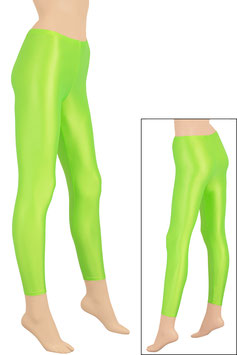 Damen Wetlook Leggings neongrün