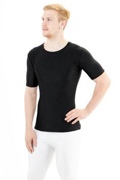 Herren T-Shirt Slim Fit schwarz