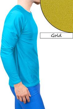 Herren Longsleeve T-Shirt Comfort Fit gold