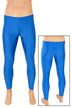 Herren Leggings mit Schritt-RV royalblau