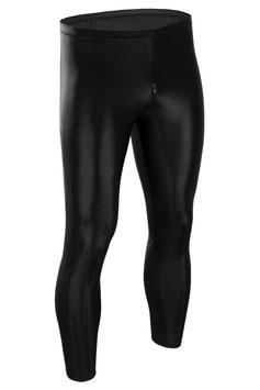 Herren Wetlook Leggings mit Schritt-RV schwarz