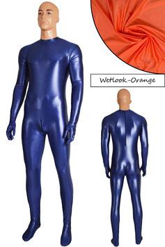 Herren Wetlook Ganzanzug RRV+SRV+Hände+Füße orange