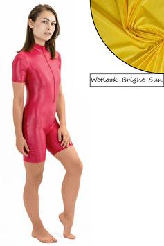 Damen Wetlook Ganzanzug kurze Ärmel und Beine FRV bright-sun