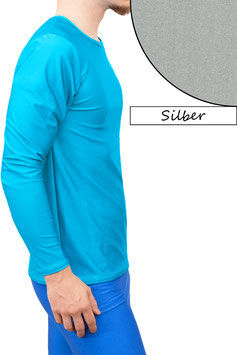 Herren Longsleeve T-Shirt Comfort Fit silber