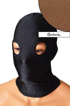 Kopfhaube (Maske) braun, mit Löchern für Augen