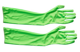 Lange Handschuhe neongrün