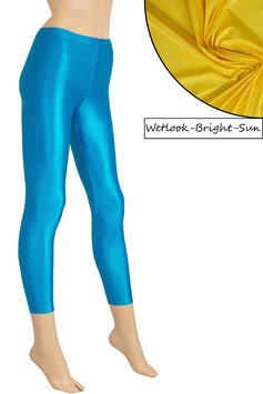 Damen Wetlook Leggings bright-sun