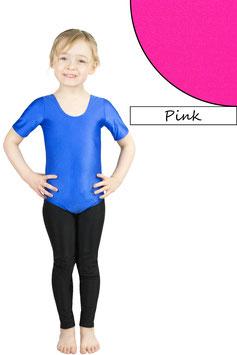 Kinder Gymnastikanzug kurze Ärmel pink