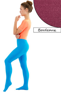 Damen Leggings mit Fuß bordeaux