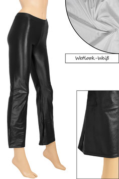 Damen Wetlook Jazzpant weiß