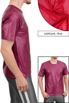 Herren Wetlook T-Shirt Comfort Fit rot