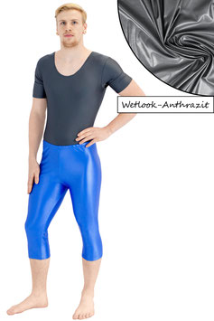 Herren Wetlook Caprihose anthrazit