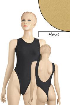 Damen Stringbody tiefer Rückenausschnitt Haut