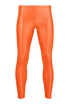 Herren Wetlook Leggings orange