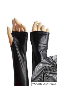 Wetlook fingerlose Handschuhe mit Daumenloch anthrazit