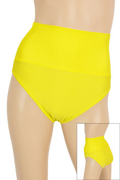 Damen High-Waist Slip gelb