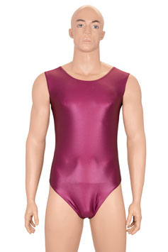 Herren Wetlook Body ohne Ärmel bordeaux