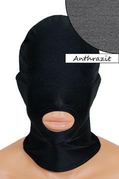 Kopfhaube (Maske) anthrazit, Mund offen