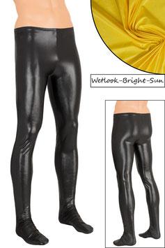 Herren Wetlook Leggings mit Fuss bright-sun