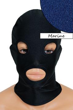 Kopfhaube (Maske) marine, mit Löchern für Mund und Augen