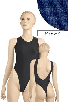Damen Stringbody tiefer Rückenausschnitt Marine