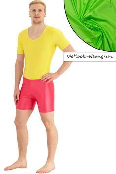 Herren Wetlook Hotpant neongrün