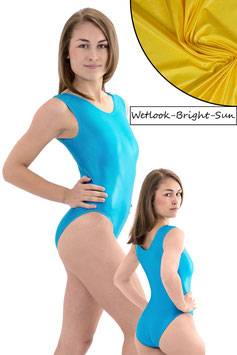 Damen Wetlook Body ohne Ärmel bright-sun