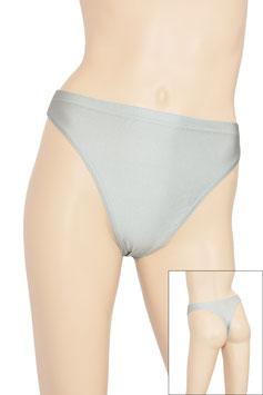 Damen String-Slip silber